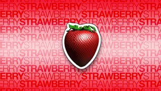 3D Strawberry Rotating Background