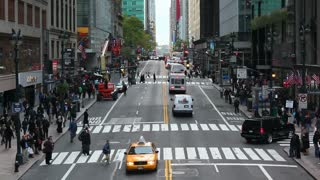 42nd Street in Mid Town Manhattan, New York, United States of America