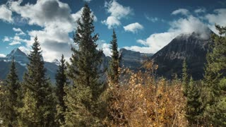 4K 60fps Aerial of Fall Colors in Jasper National Park
