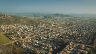 4K Aerial Flying Over California Suburbs