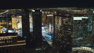 4K Aerial of Las Vegas at Night