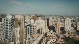 4K Aerial View of Downtown San Diego