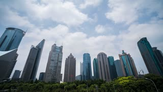 4k resolution Shanghai Office buildings time lapse