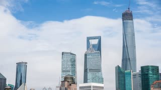 4k resolution Shanghai skyline
