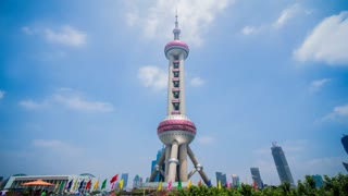 4k resolution The Oriental Pearl TV Tower