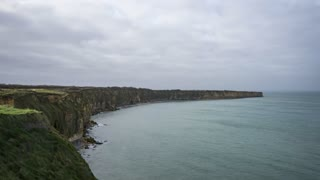4K Timelapse Sequence of Grandcamp-Maisy, France - The Pointe du Hoc