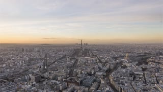 4K Timelapse Sequence of Paris, France - Day to Night (short version)