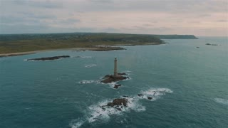 4K Video Sequence of Goury, France - The Lighthouse and the harbor