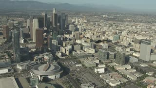 4K Wide Aerial Shot of Los Angeles City