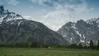 4K Dolly Shot of Grand Teton mountains