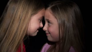 8 Year Old Twins Touching Noses