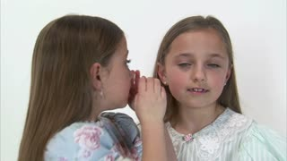 8 Year Old Twins Whispering then Look at Camera 2