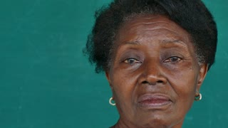 9 Black Old People Portrait Worried Senior Lady Face Expression
