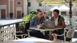 Businesswomen working remotely