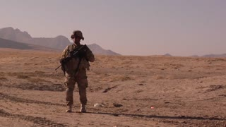 A soldier from a  Command Security Team in Afghanistan