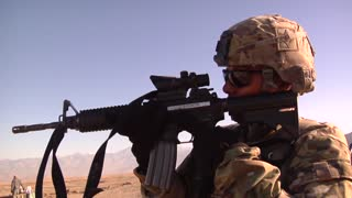 A soldier Security Team in Afghanistan