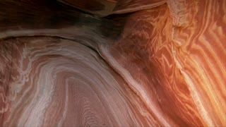 A Tilt Up To Reveal Man In Red Rock Passageway The Wave Northern Arizona