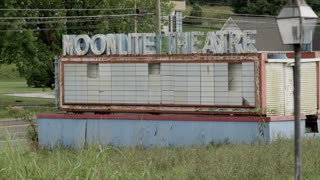 Abandoned Drive In Moonlite Theatre sign