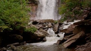 Autumn waterfall in Catskills tight