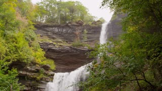 Autumn waterfall in Catskills wide 4