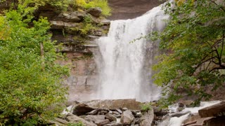 Autumn waterfall in Catskills close