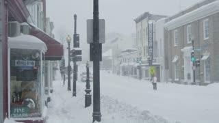 Georgetown Washington DC Winter Blizzard Snowing