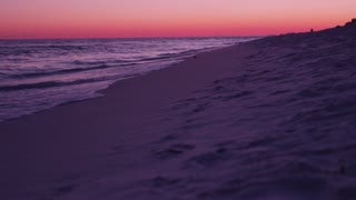Vibrant beach sunset in Destin Florida