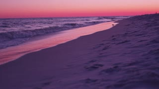 Vibrant beach sunset in Destin Florida dolly slider right