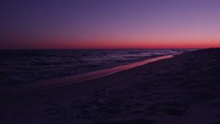 Deep purple sunset in Destin Florida