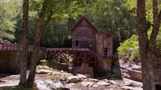 Summer shot of Glade Creek Grist Mill in Babcock State Park West Virginia