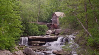 Beautiful grain water mill in the forest - Glade Creek Grist Mill in Babcock State Park West Virginia