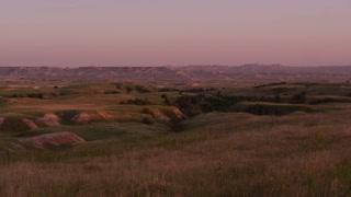 Badlands National Park at sunset