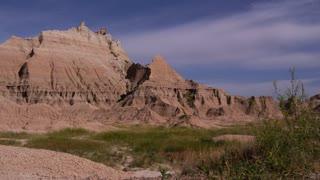 Badlands National Park South Dakota slider shot moving left tight shot