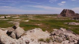 Badlands National Park and buttes static shot