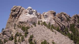 Mount Rushmore Static Shot from Below