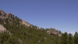 Pan Left to frame Mount Rushmore