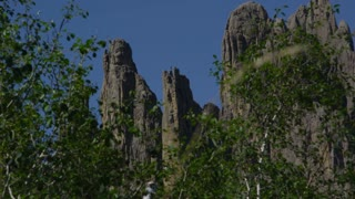 Static shot of The Needles in Custer State Park South Dakota