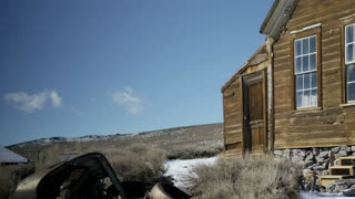 Abandoned ghost town home