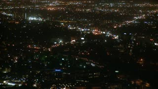 Above LA Night City Timelapse