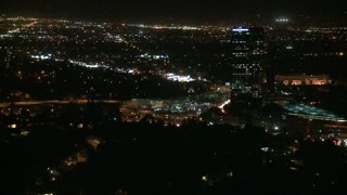 Above Los Angeles City Night Time Lapse