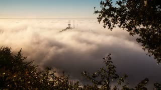 Above the Fog Covering Los Angeles