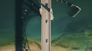Above View of Newport Oregon Bridge