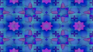 Kaleidoscopic forms merge and pulse (Loop)