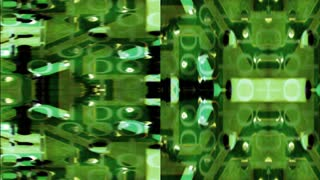 Green circuit boards with data binary composite (Loop)
