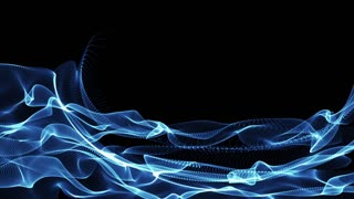 Blue light waves undulate and flow (Loop)
