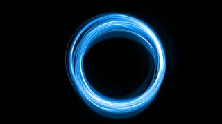 Abstract blue circles glow over black with matte