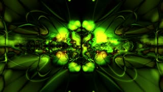 Abstract Bright Green Form Visualization 10