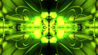 Abstract Bright Green Form Visualization 12
