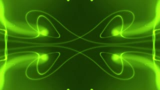 Abstract Bright Green Form Visualization 2