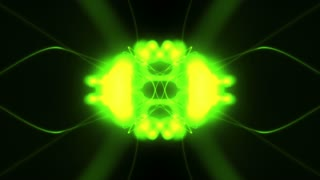 Abstract Bright Green Form Visualization 4